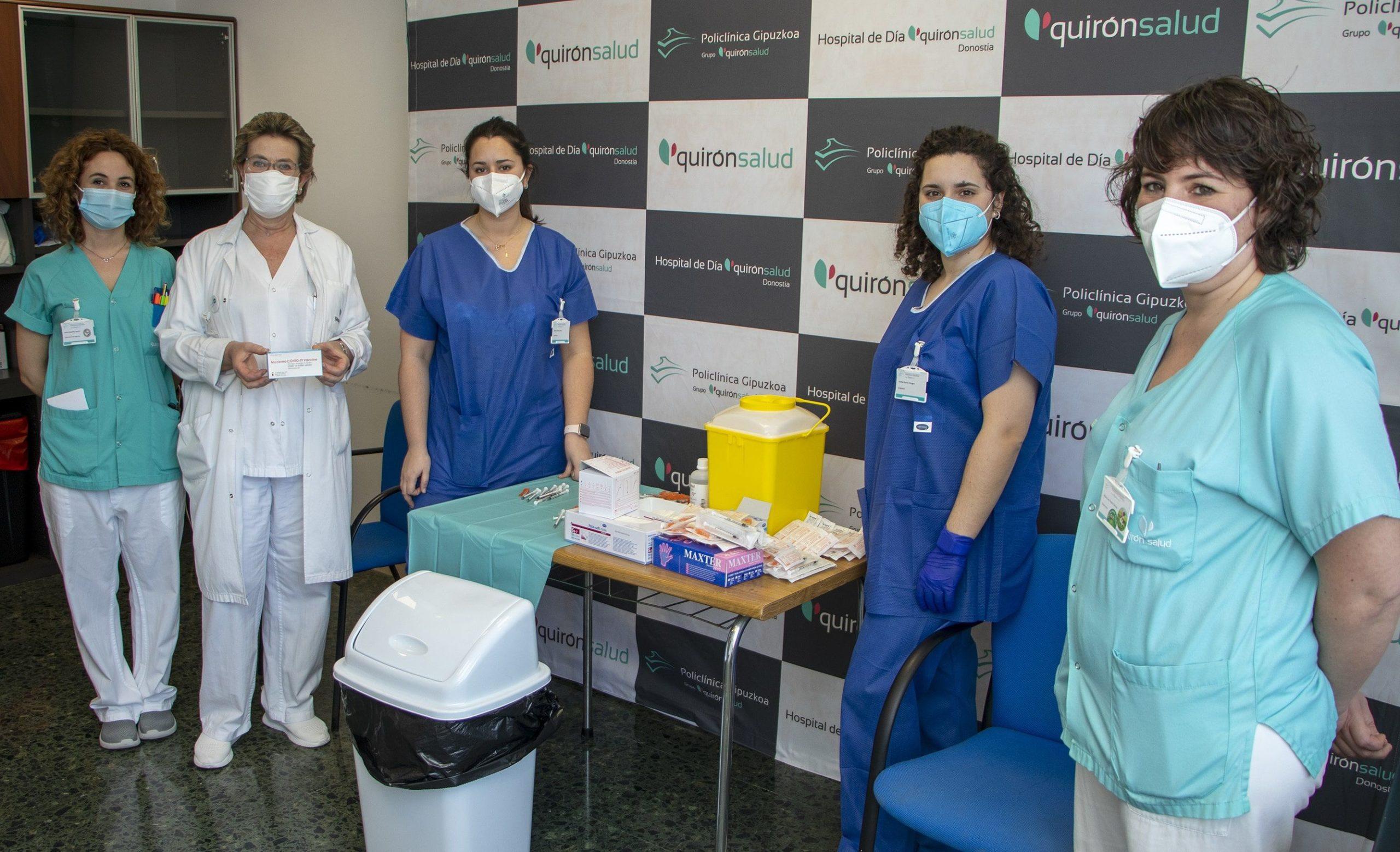 Comienza la vacunación en Policlínica Gipuzkoa