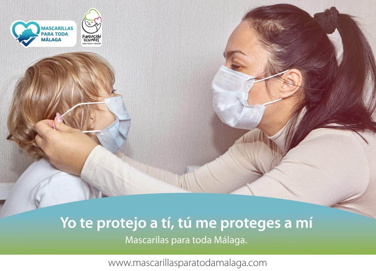 La Fundación Olivares repartirá 1,8 millones de mascarillas entre los ciudadanos de la provincia de Málaga