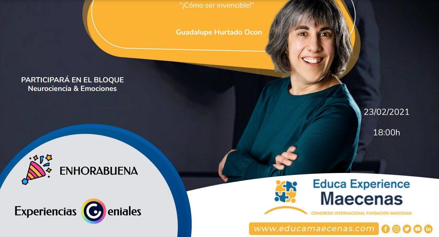 Lupe Hurtado lleva la inteligencia emocional a Educa Experiencie, un evento online sobre la docencia