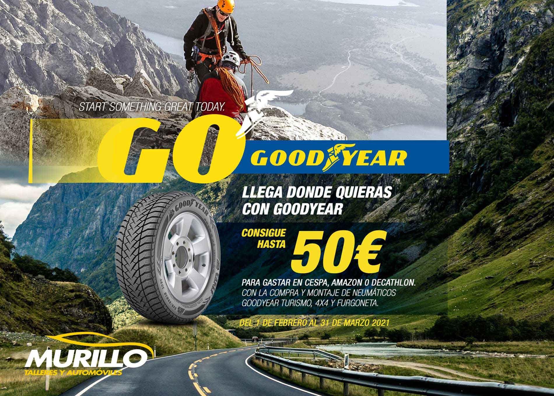 Talleres Murillo y GoodYear se unen para ofrecer una nueva promoción en el cambio de neumáticos
