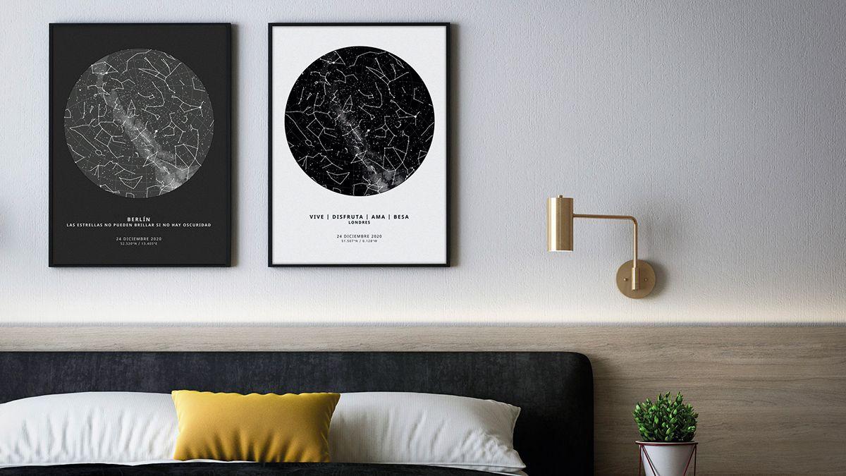 The Unique Poster, pósters de mapas estelares personalizados para recordar momentos especiales