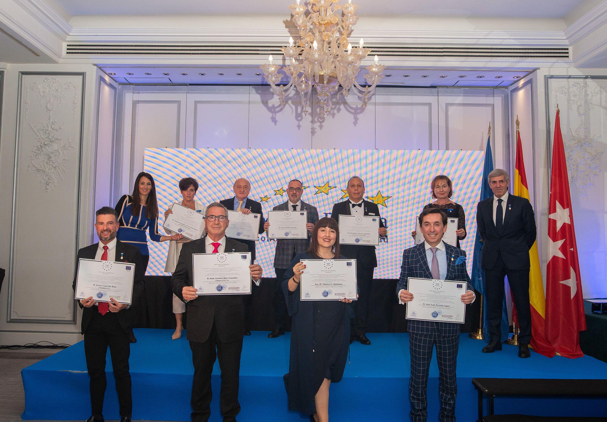 La Asociación Europea de Economía y Competitividad otorga la Medalla de Oro Europea al Mérito en el Trabajo