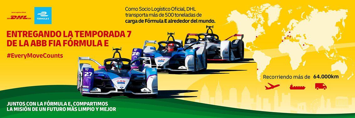 DHL proveedor logístico oficial y socio principal de la primera edición de la Fórmula E en España