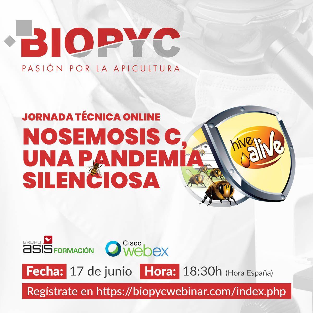 BIOPYC organiza la Jornada Técnica online sobre la Nosemosis C