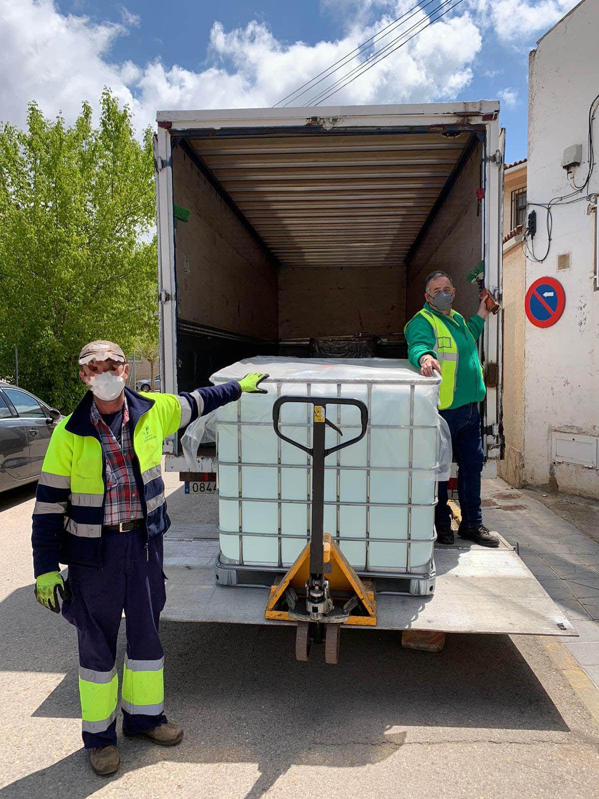 DESTINA transporta de manera gratuita la donación de 2.4 toneladas de hidrogel por parte de BASF