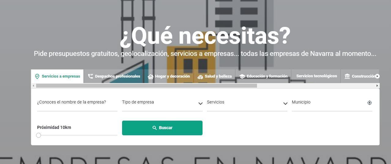 EmpresasenNavarra.com, el primer buscador de empresas especifico de Navarra
