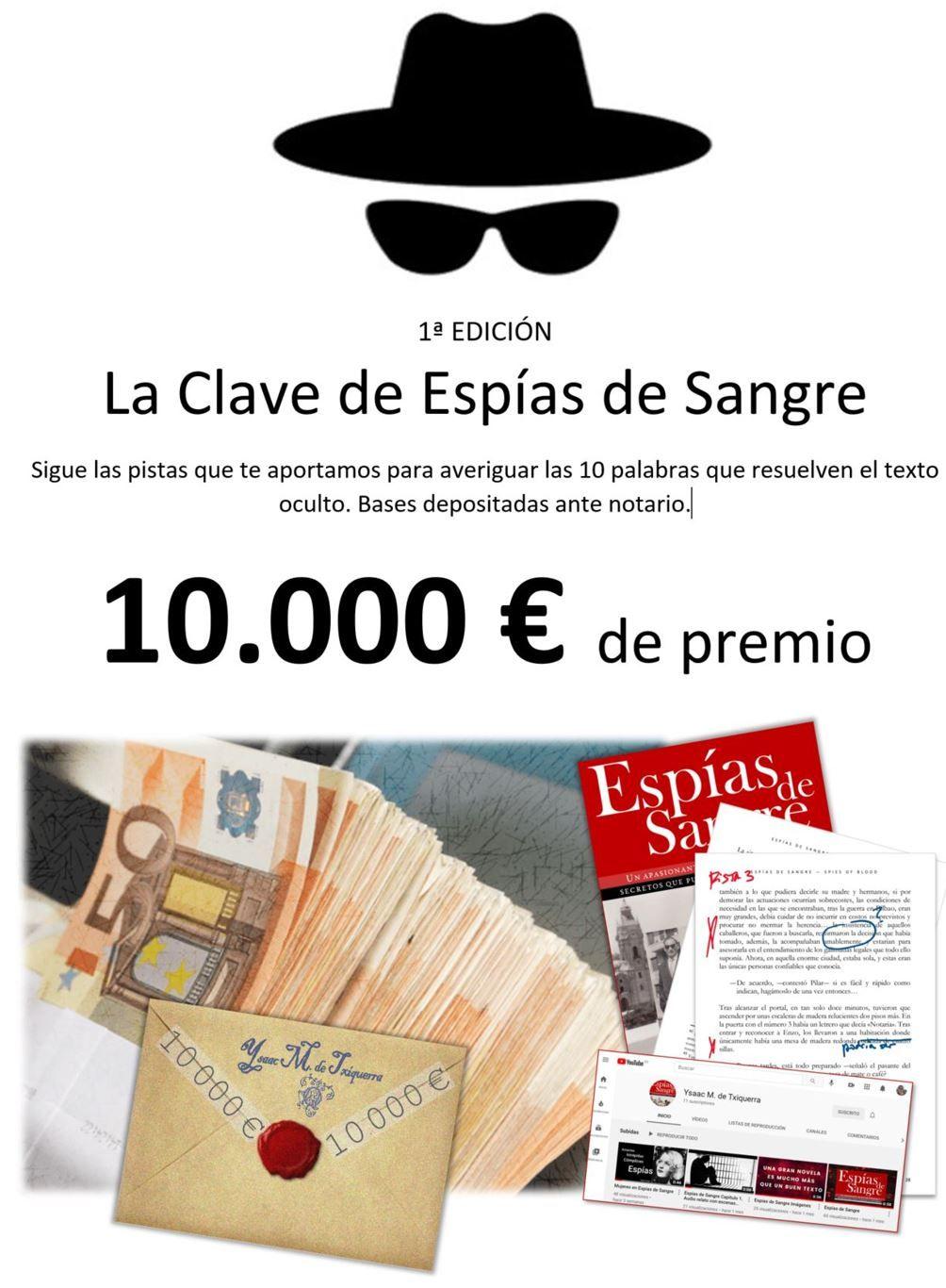 'Espías de Sangre', la novela innovadora que premia a sus lectores con 10.000 euros