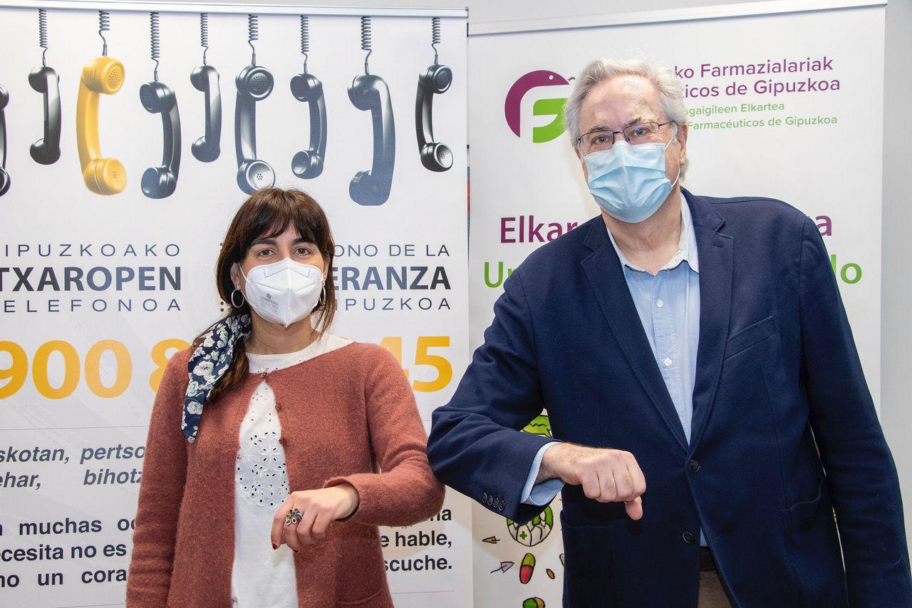Farmacias y Teléfono de la Esperanza de Gipuzkoa colaboran para mejorar la calidad de vida de la ciudadanía