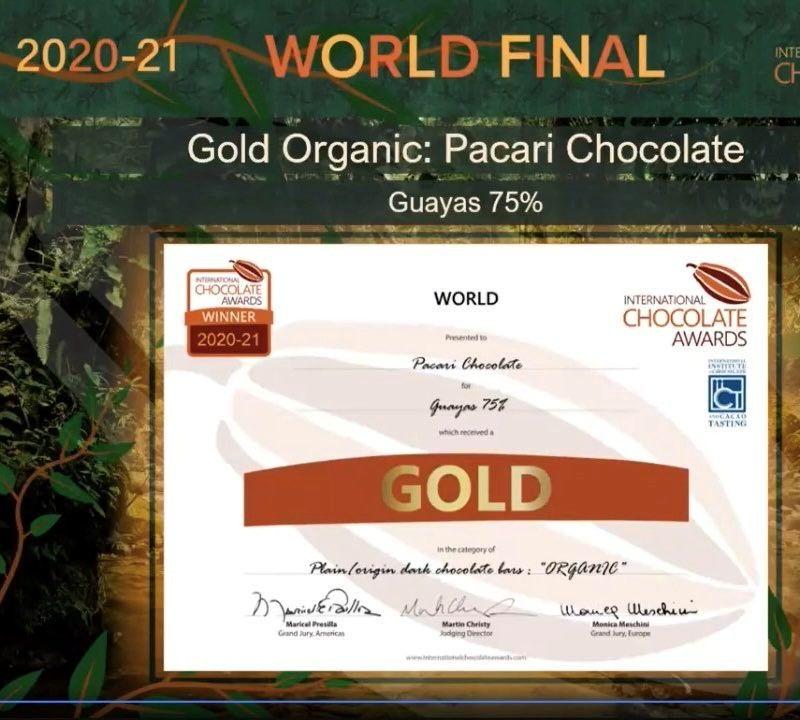 """Pacari se alza con 16 galardones en los premios """"Oscar del chocolate"""""""