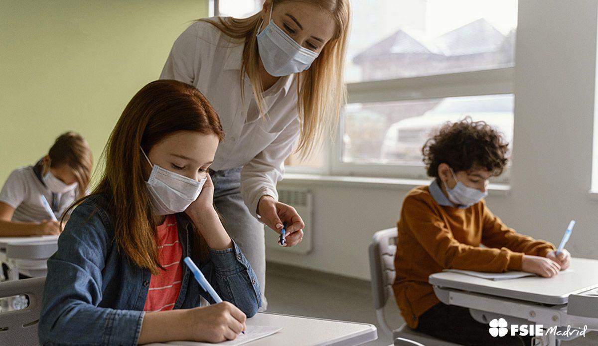 FSIE Madrid revela que más del 50% de los profesionales educativos en la Comunidad de Madrid consideran que las administraciones no han reconocido sus esfuerzos durante el curso 2020-21