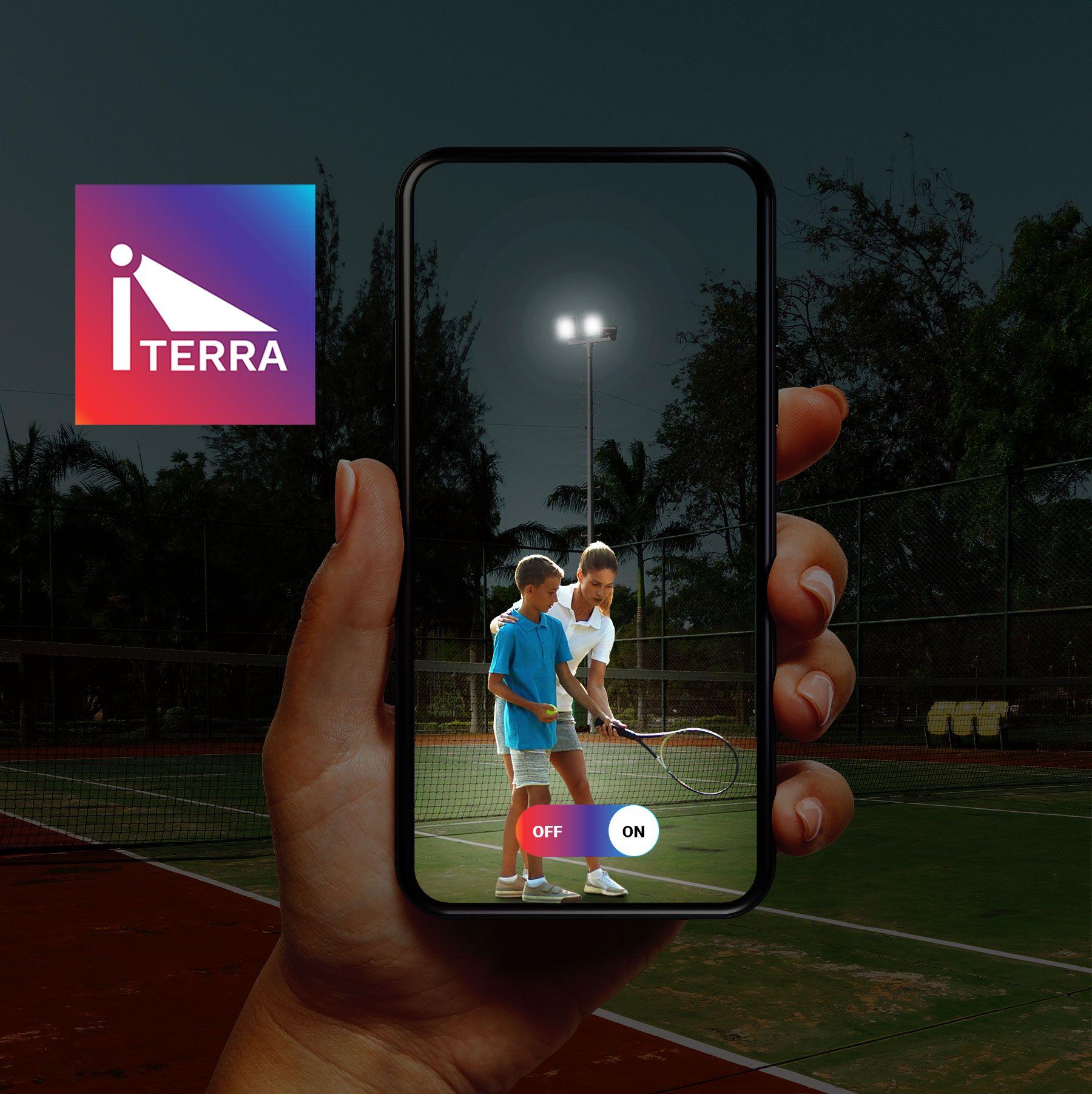 Schréder lanza iterra, una solución de control inalámbrica para aplicaciones deportivas