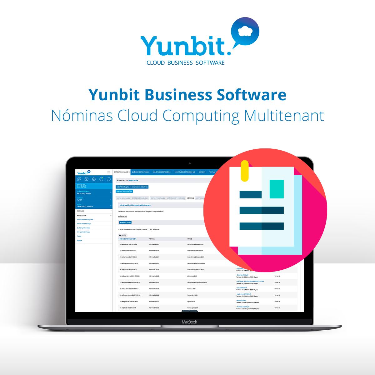Yunbit Business Software, Nóminas Cloud Computing Multitenant
