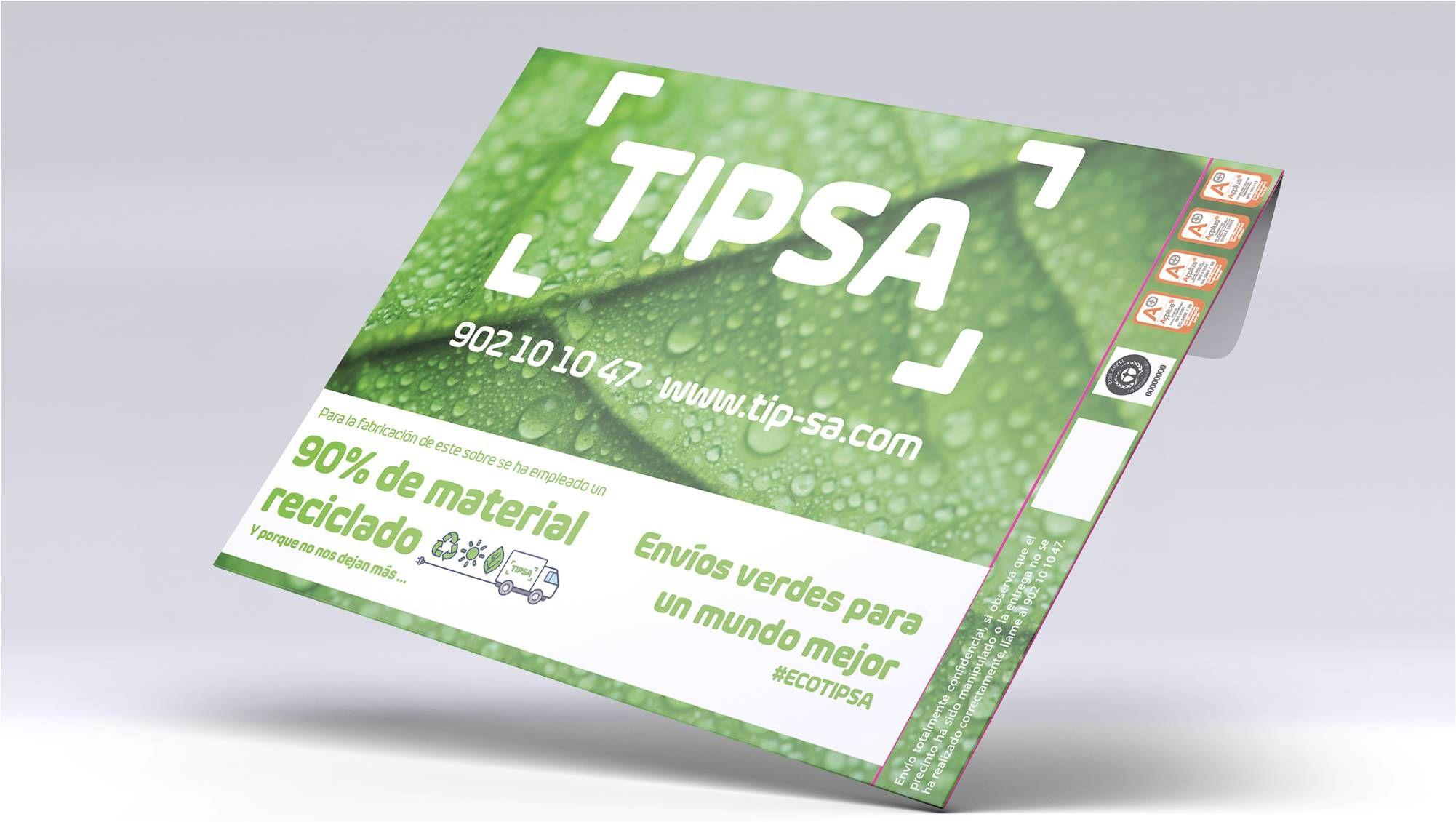 Los sobres de TIPSA obtienen el certificado internacional de sostenibilidad Blue Angel