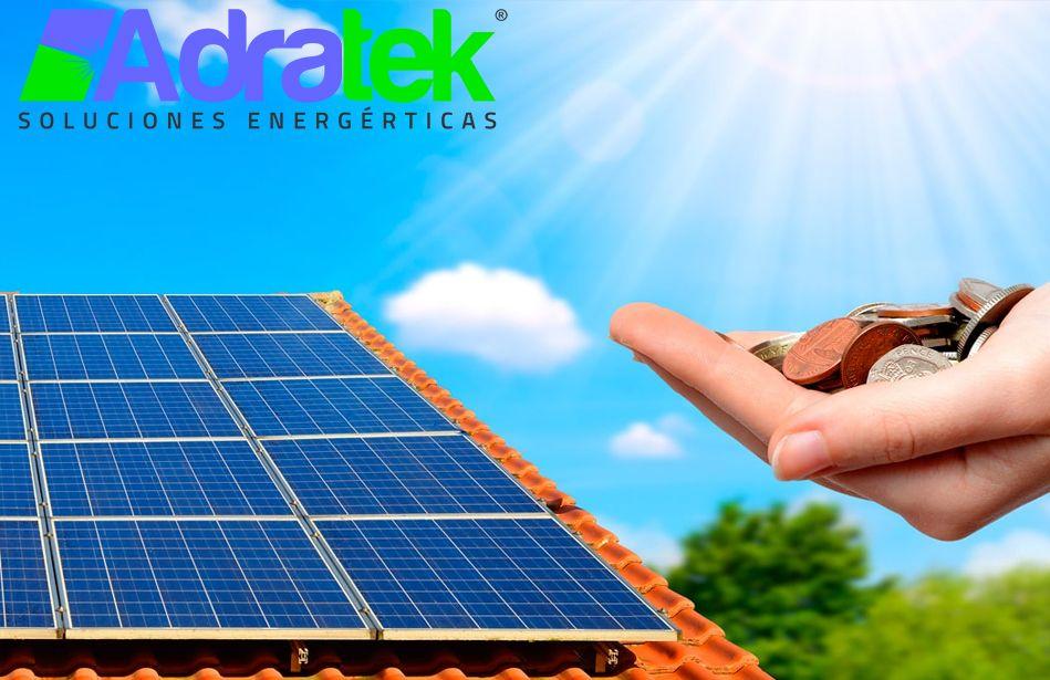 Placas solares un ahorro importante en hogares y empresas, por ADRATEK
