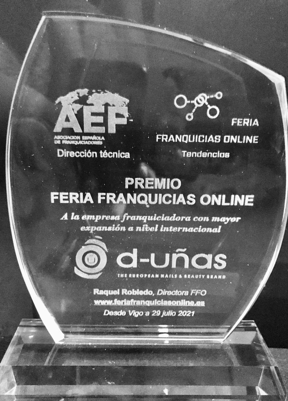 d-uñas, premio a la empresa franquiciadora con mayor expansión a nivel internacional