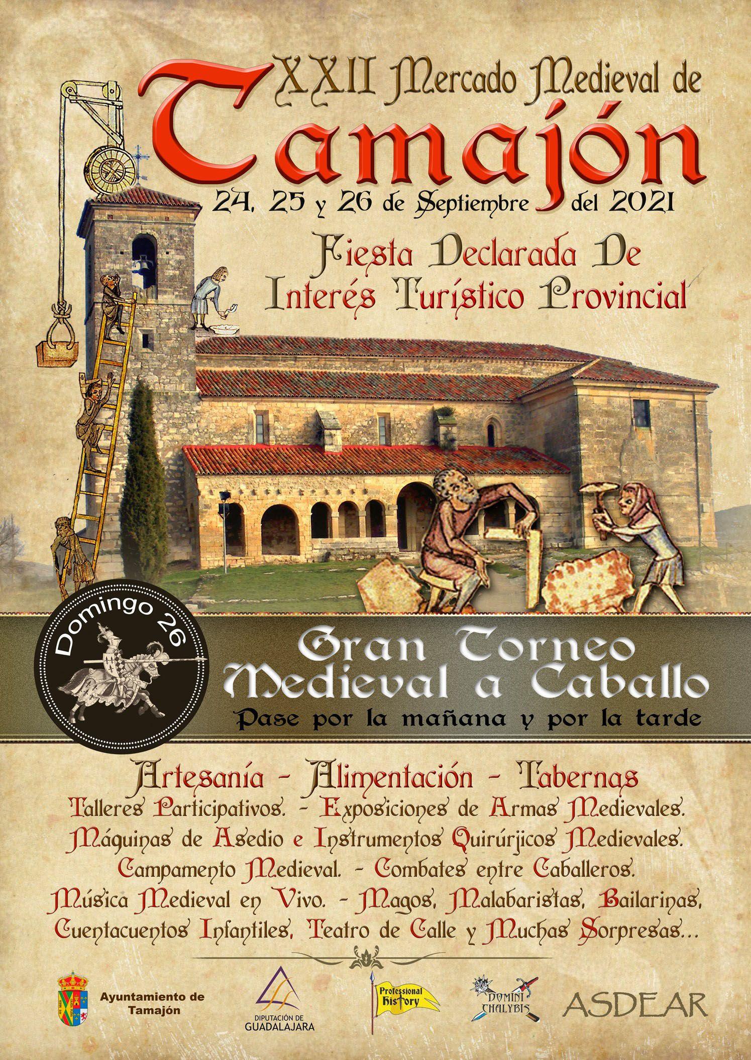 El Mercado Medieval vuelve a Tamajón en la que será su vigésimo segunda edición, el próximo fin de semana