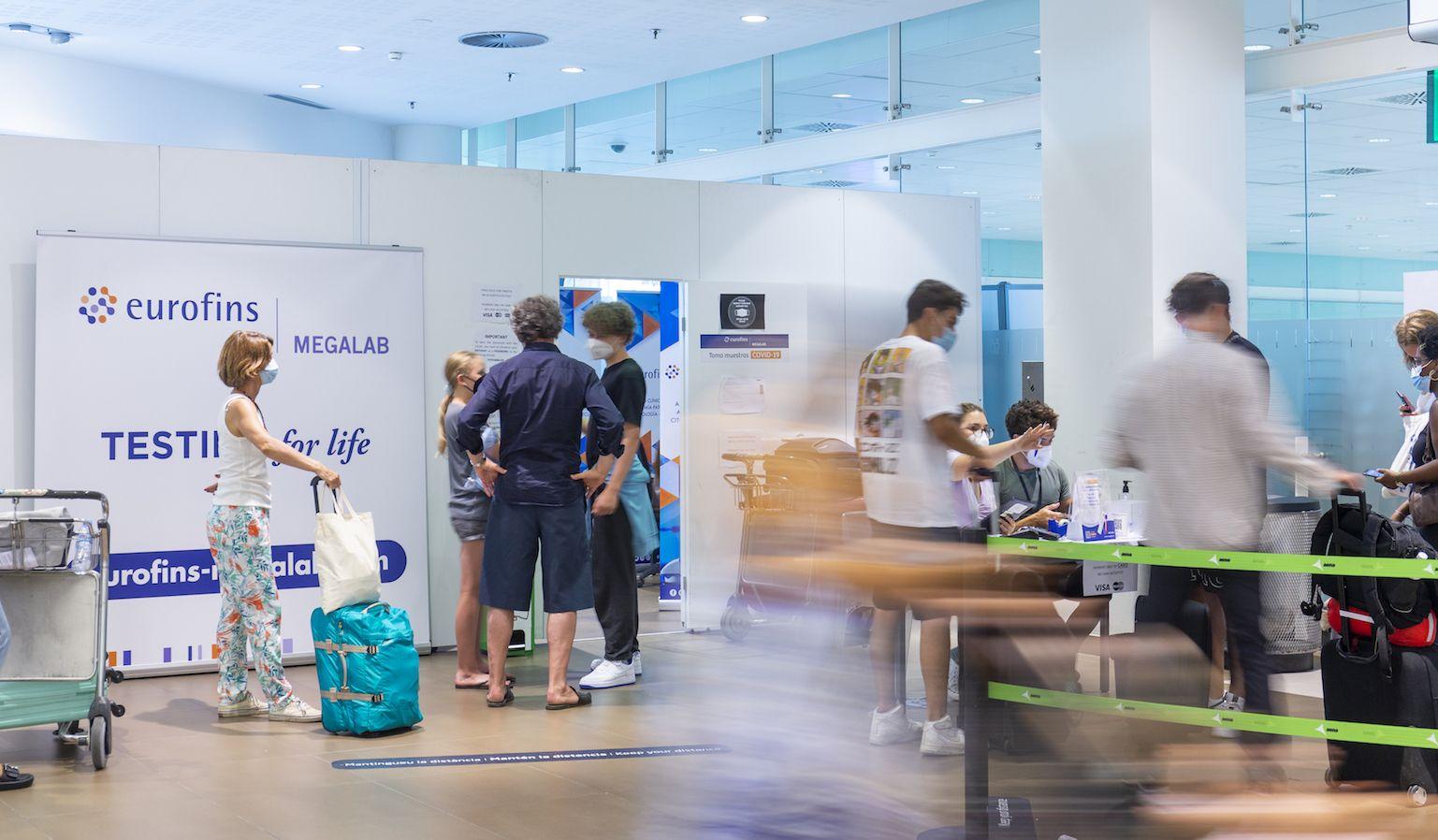 Los ingleses lideran el ranking de viajeros que se hacen test COVID en aeropuertos con Eurofins Megalab