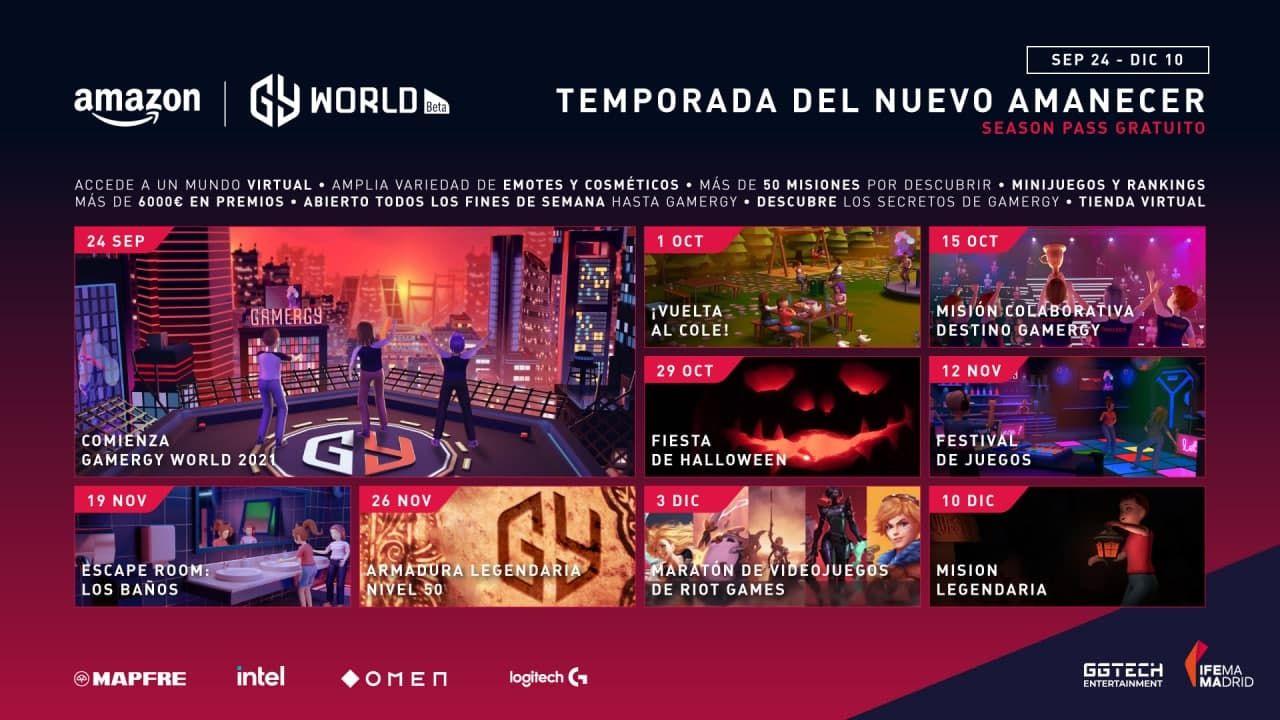 Nace AMAZON GAMERGY WORLD, el mundo virtual de GAMERGY que comienza con la Temporada del Nuevo Amanecer, creando una comunidad de fans GAMERGY viva todo el año