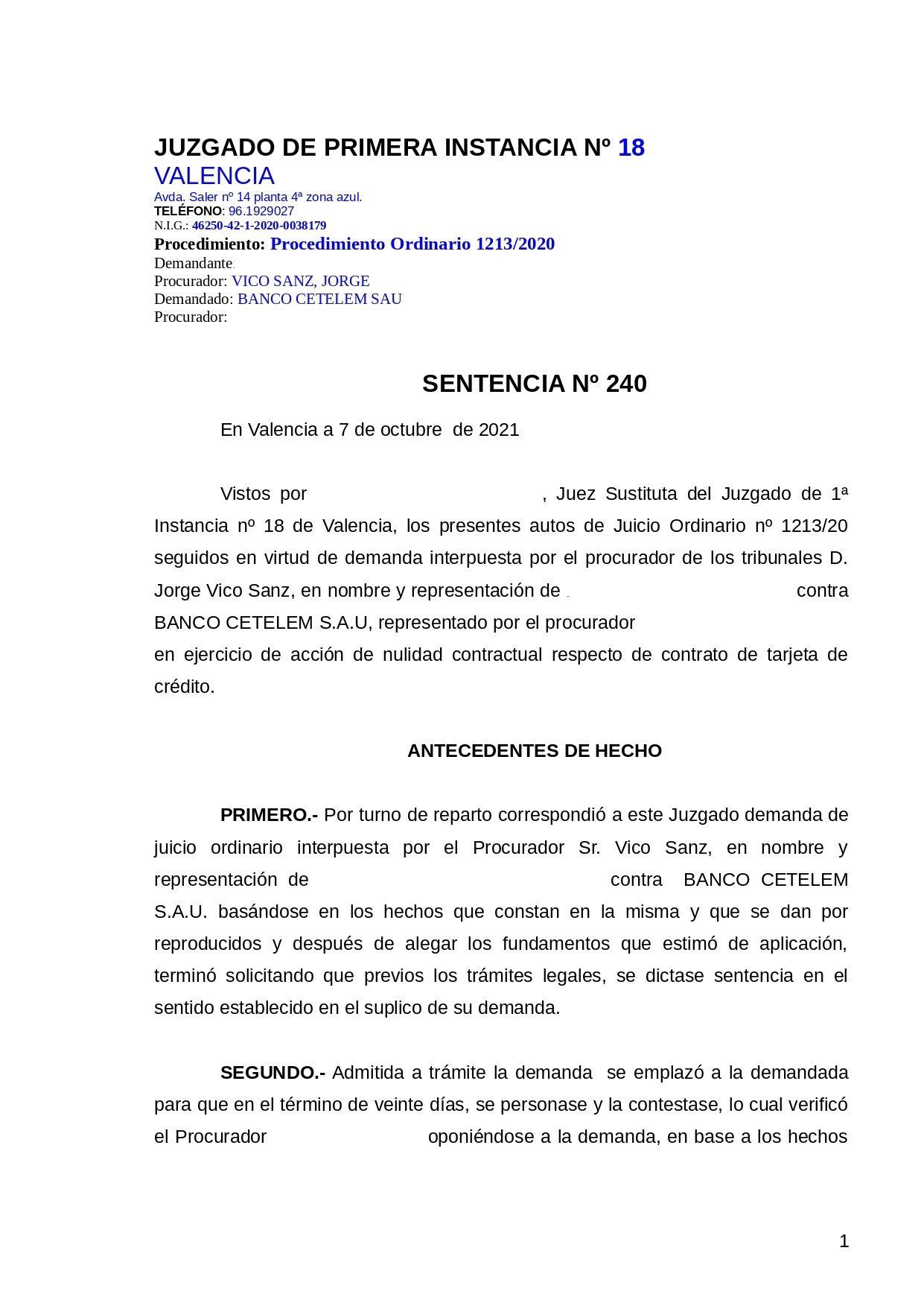 Aliter Abogados recupera 12.577€ a un cliente de un crédito usurario asociado a una tarjeta revolving