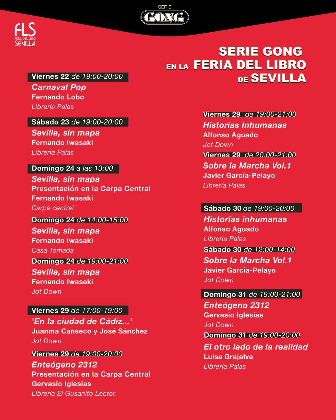 La editorial Serie Gong en la Feria del Libro de Sevilla 2021